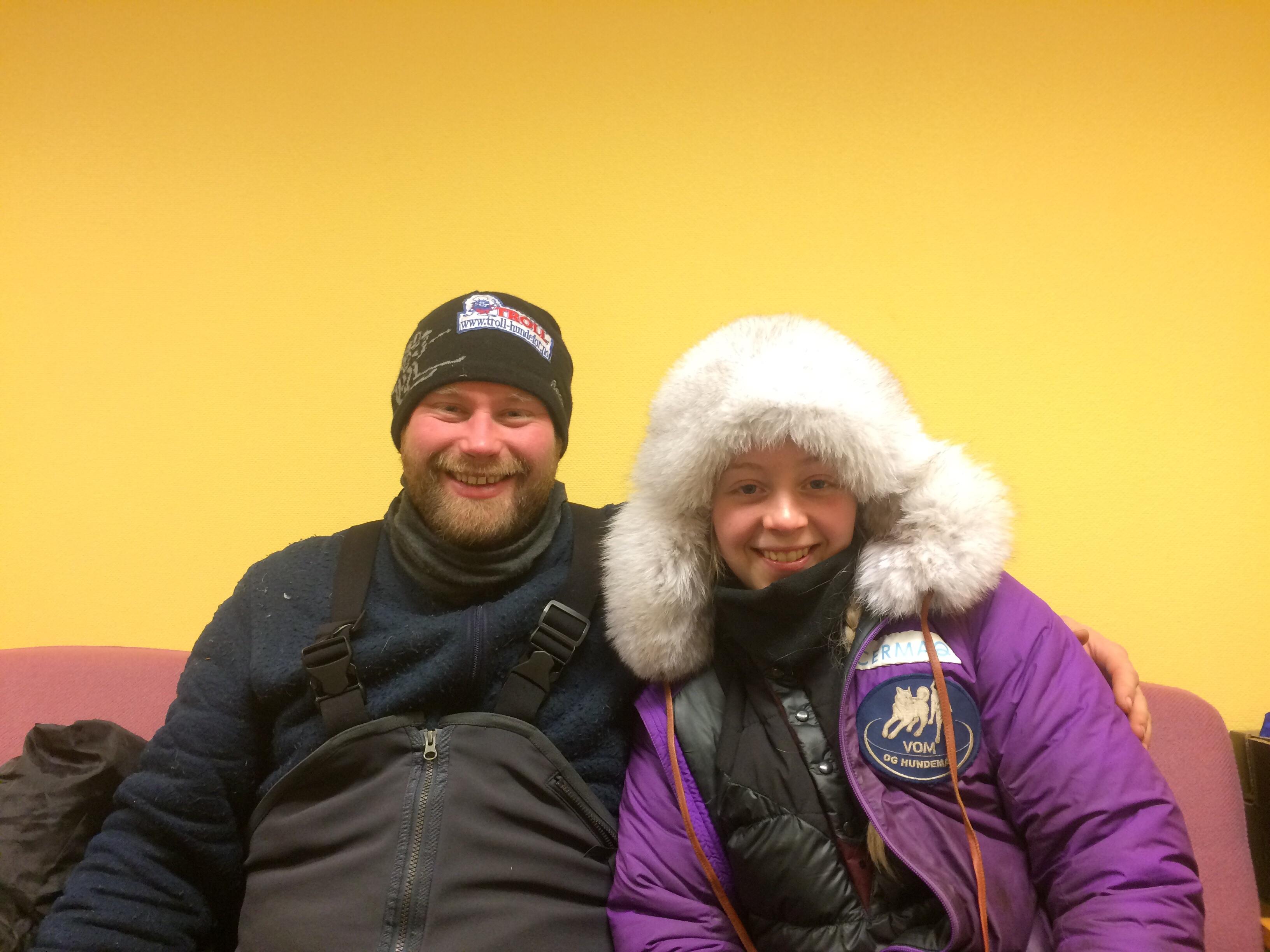 Kristian Walseth og Hanna Lyrek var begge godt fornøyd med å komme i mål til gull og sølv.